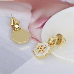🎅Tory Burch Hexagon Earrings